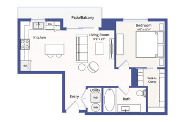 Apartment 1601 floor plan