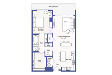 Apartment 807 floor plan