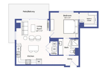 Apartment 1602 floor plan