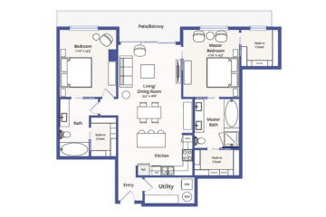 Apartment 905 floor plan