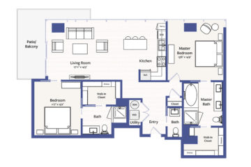 Apartment 302 floor plan