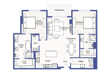 Apartment 1806 floor plan