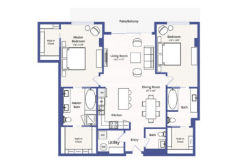 Apartment 1809 floor plan