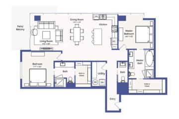 Apartment 1118 floor plan