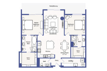 Apartment 1807 floor plan