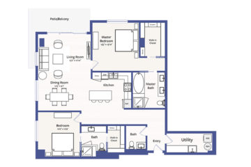 Apartment 1802 floor plan