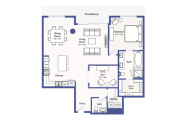 Apartment 3003 floor plan