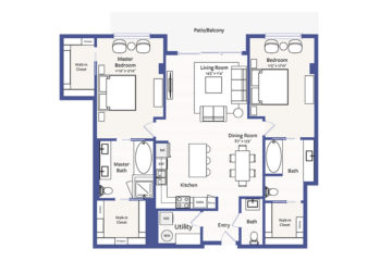 Apartment 3007 floor plan