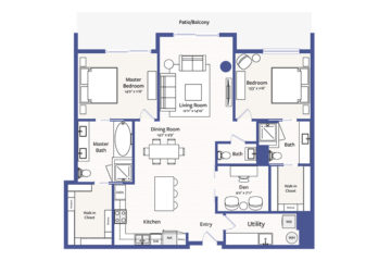 Apartment 3005 floor plan