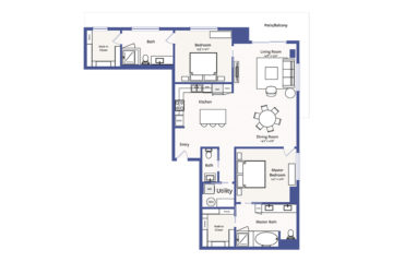 Apartment 3001 floor plan