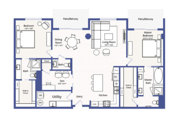 Apartment 3004 floor plan