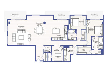 Apartment 3002 floor plan